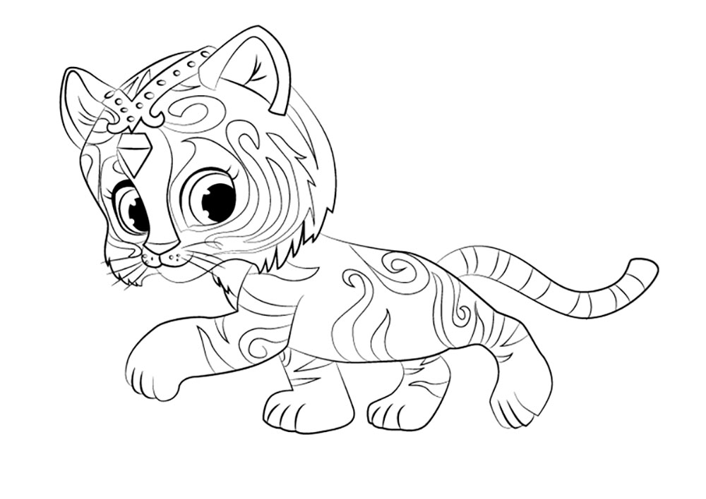Nahal Shimmer and Shine Coloring Pages