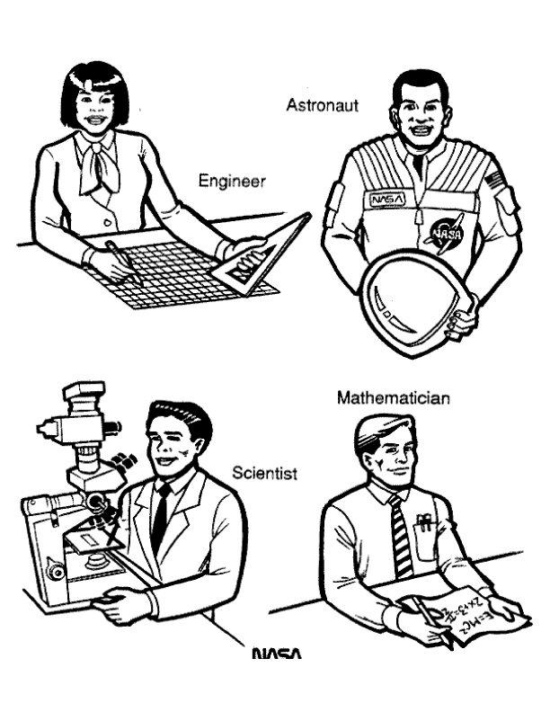 Nasa Employees Coloring Page