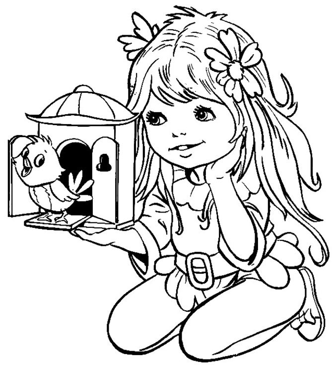 Nature Girl Coloring Page