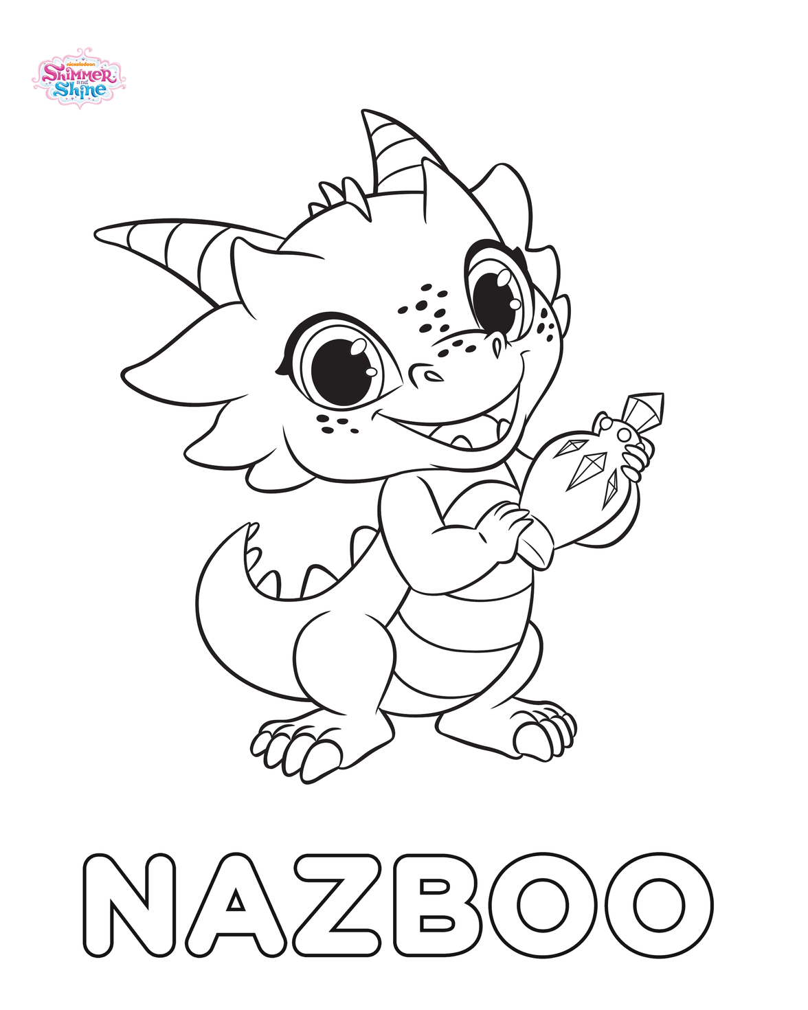 Nazboo Shimmer and Shine Coloring Pages