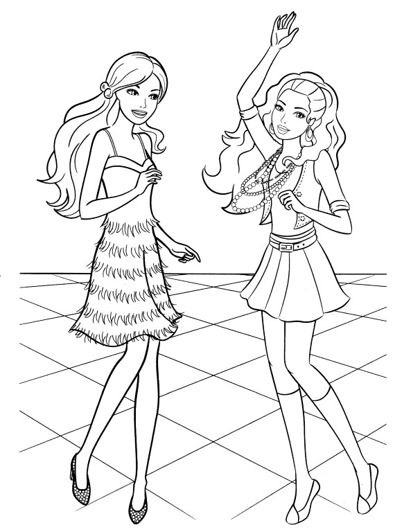 New Barbie Coloring Pages Free