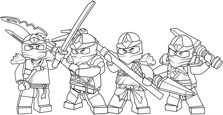 Ninjago Characters Lego Coloring Page