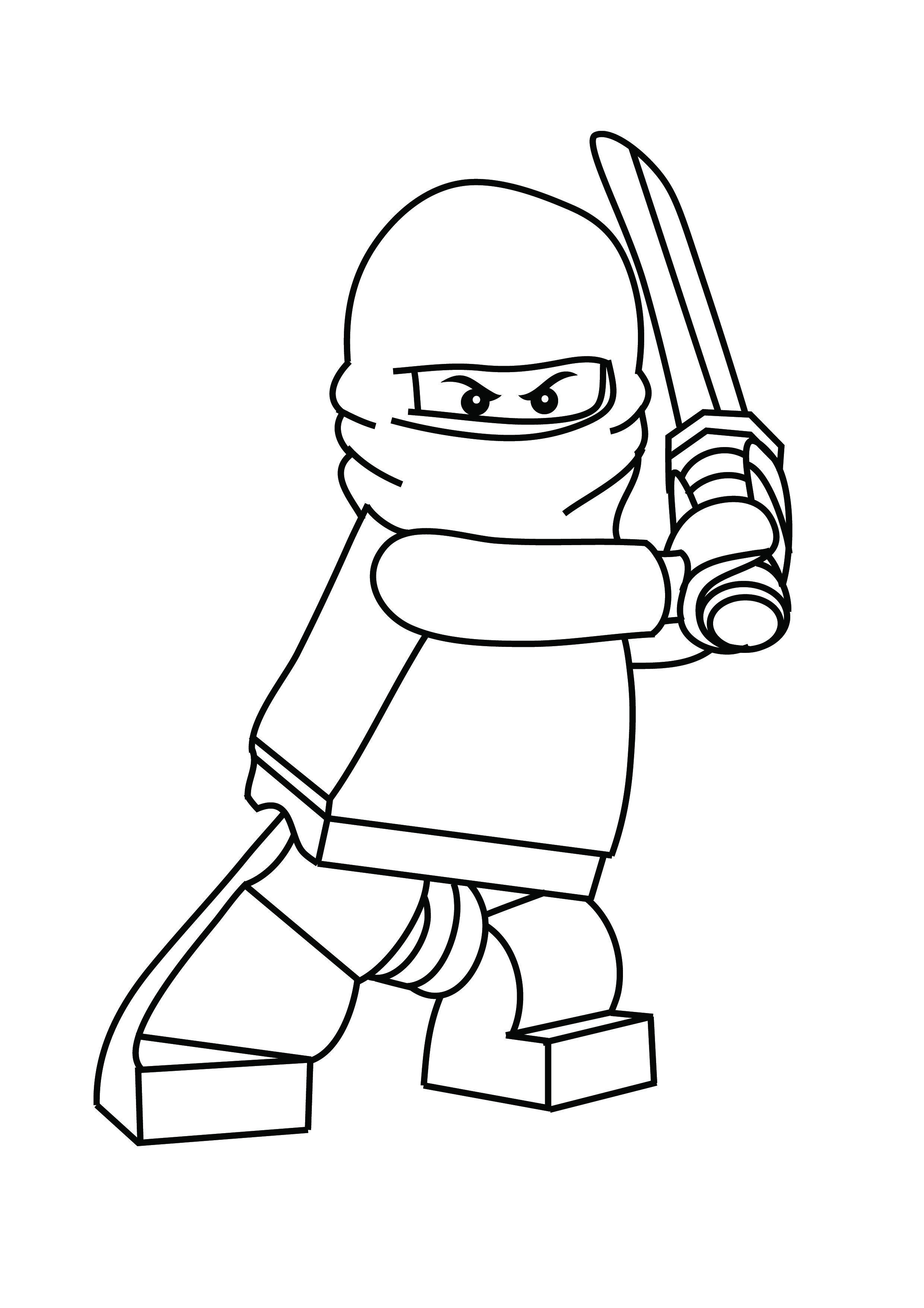 Ninjago Lego Coloring Pages
