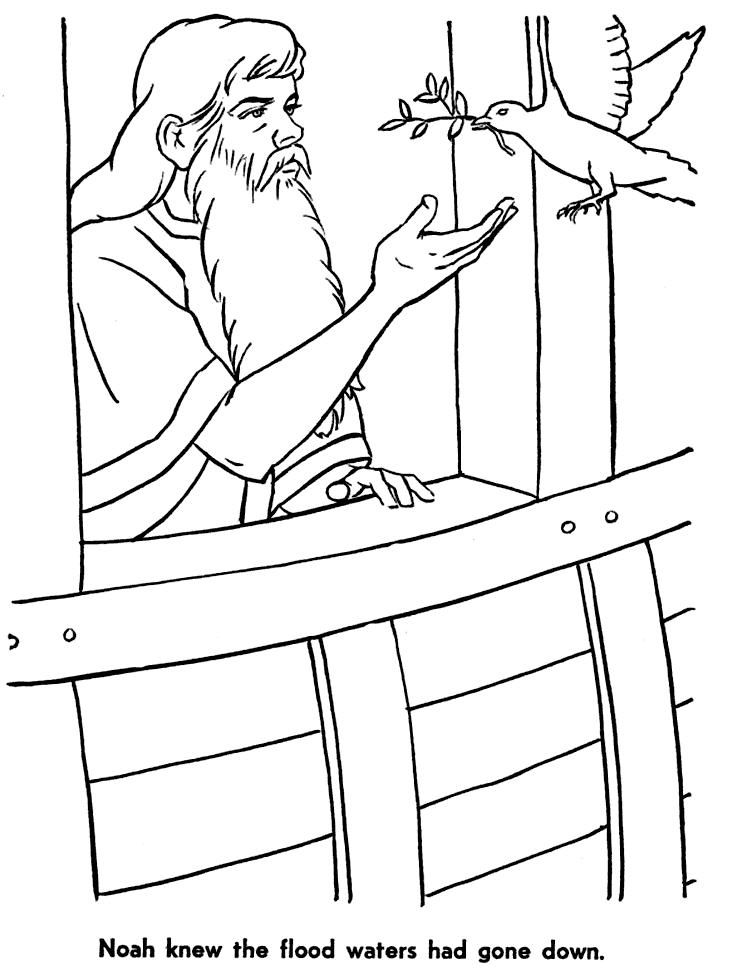 Noahs Dove Christian Coloring Page