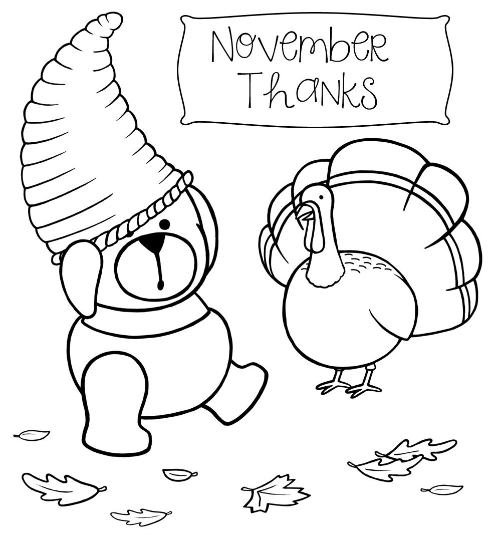 November Thanks Coloring Page