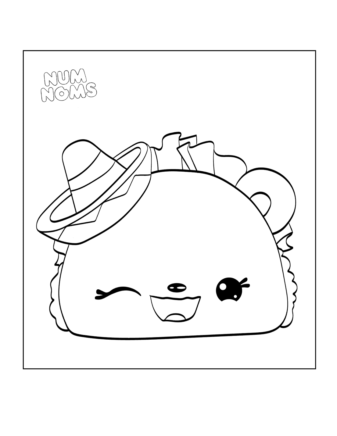 Numnoms Taco Coloring Page