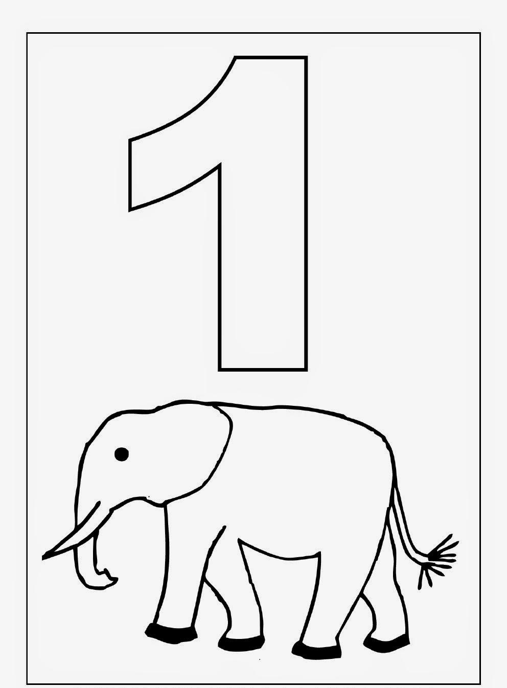 Number 1 Kindergarten Coloring Worksheet