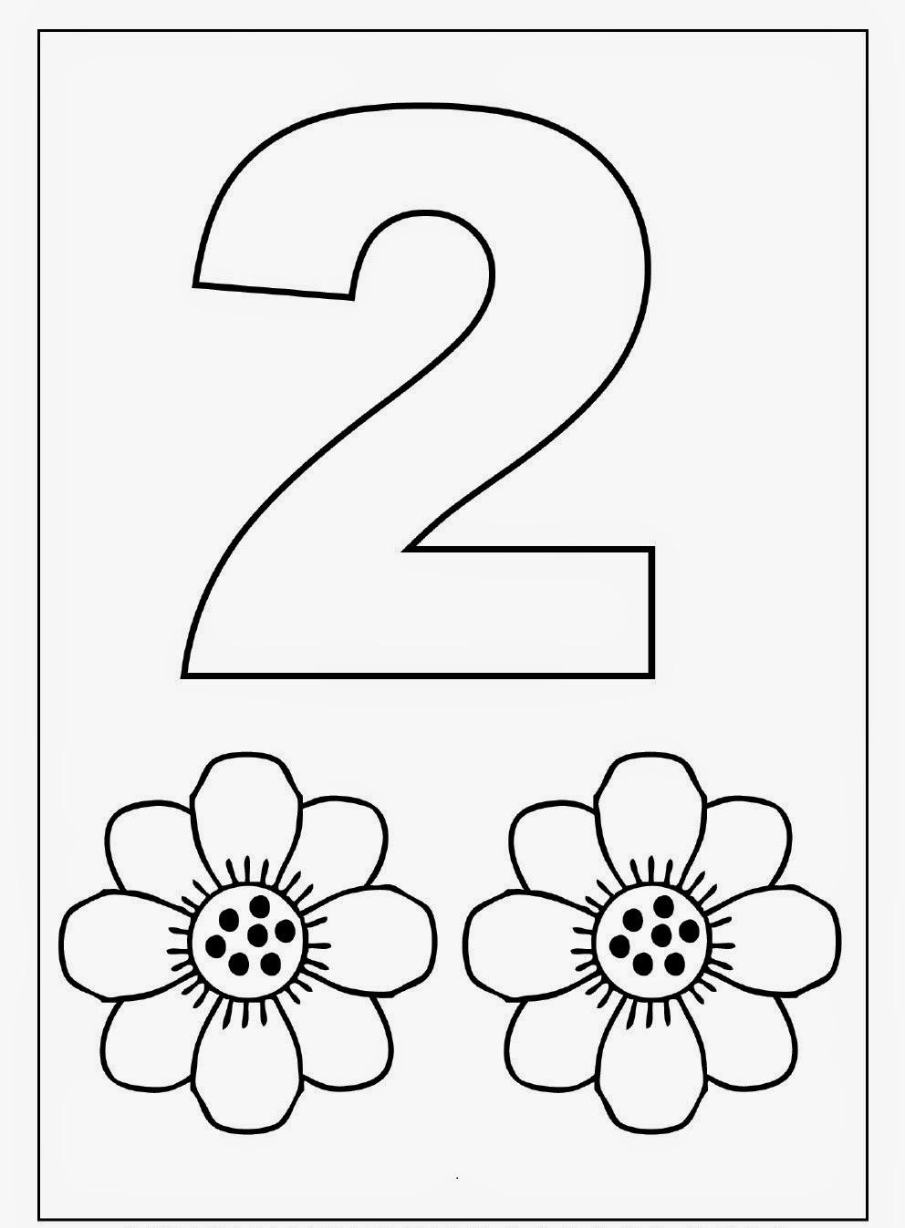 Number 2 Kindergarten Coloring Pages