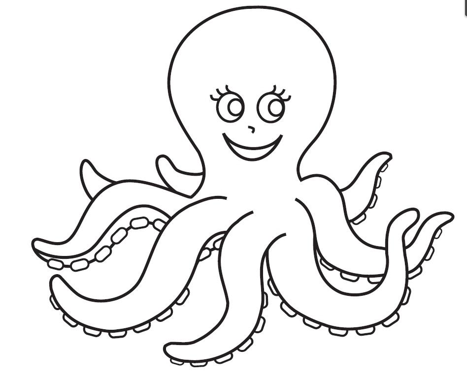 Octopus Kindergarten Coloring Pages