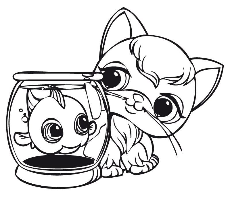 Oddest Friends Littlest Pet Shop Coloring Pages