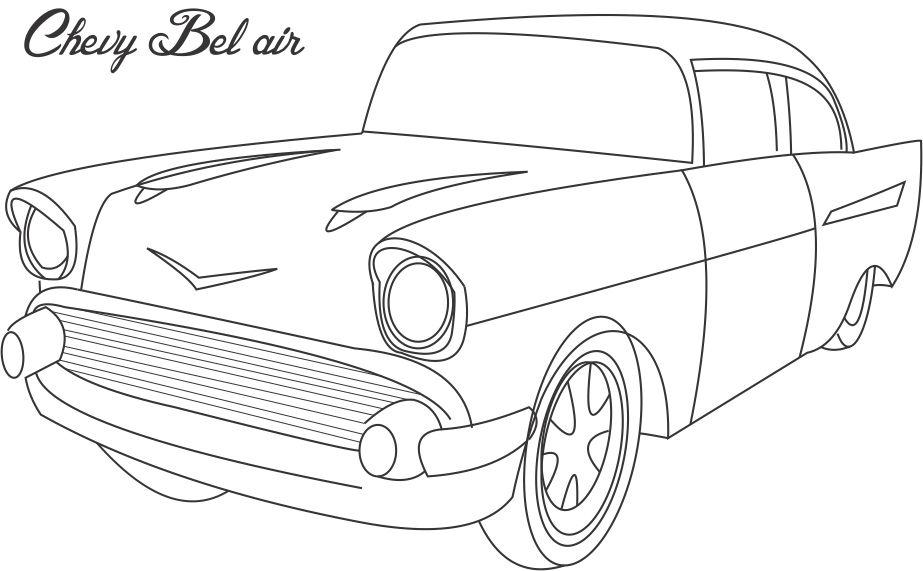 Old Chevy Car Coloring Pages