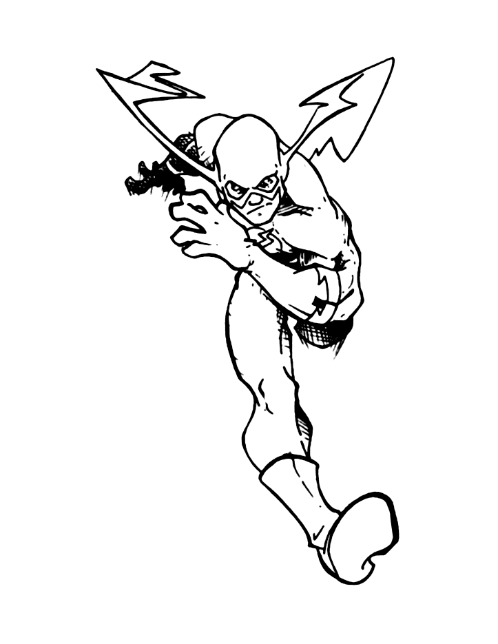 Old School Flash Coloring Page