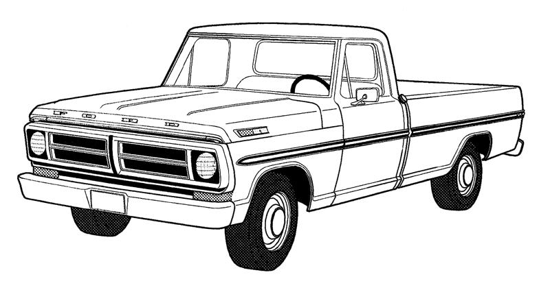 Old Truck Coloring Page