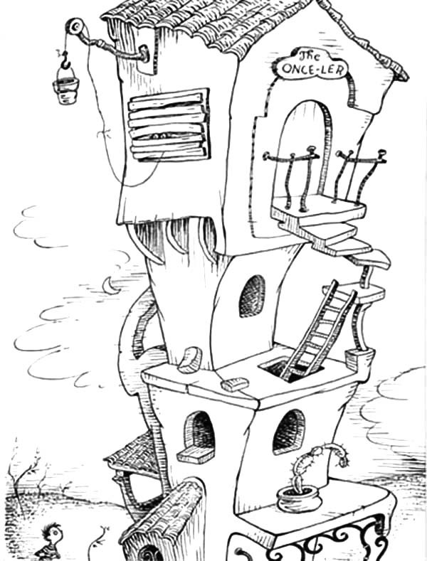 OnceLers House Lorax Coloring Page
