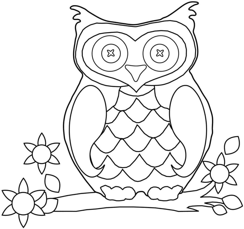 Owl Kindergarten Coloring Pages