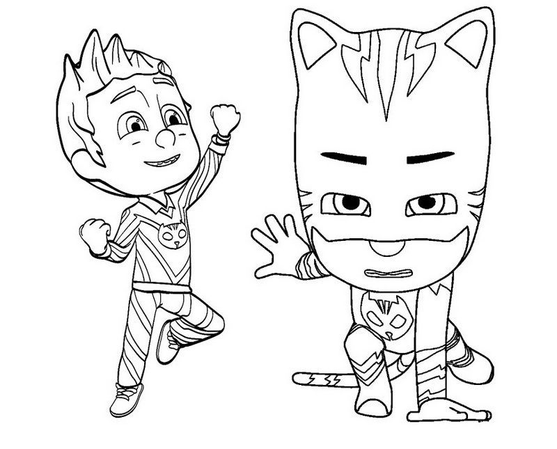 It's just a photo of Pj Masks Coloring Pages Printable throughout birthday