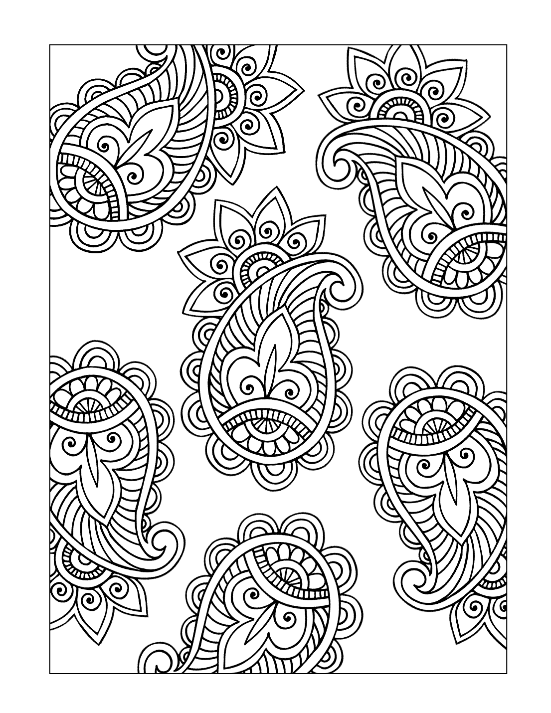 Paisley Pattern Coloring Pages