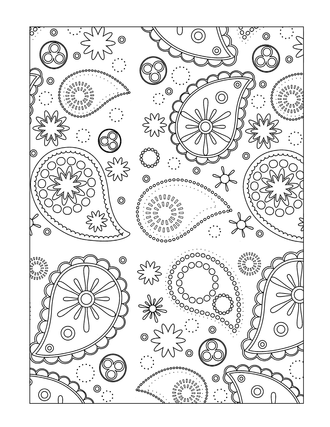 Paisleys Coloring Page