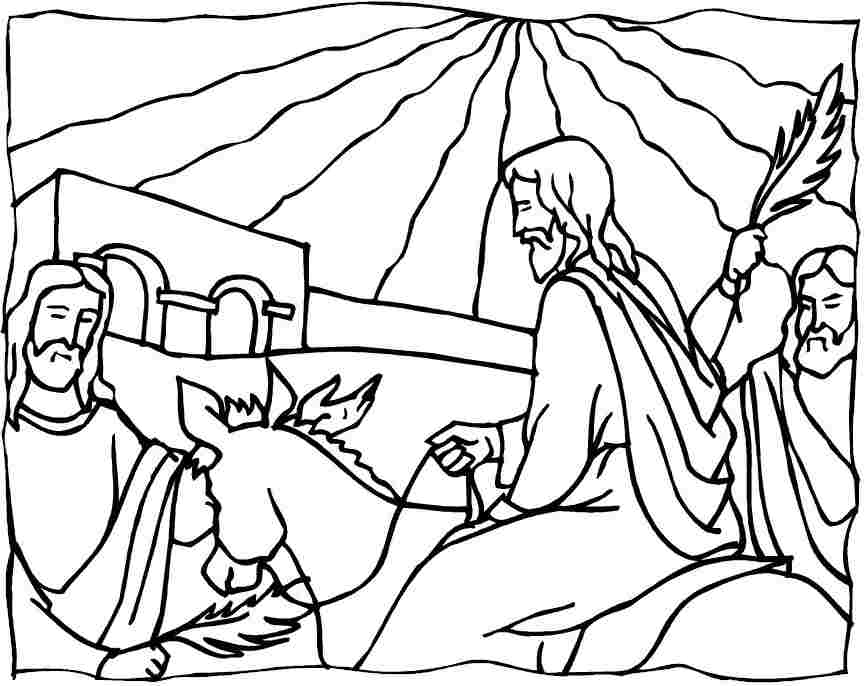 Palm Sunday Bible Coloring Pages - Jesus Returns