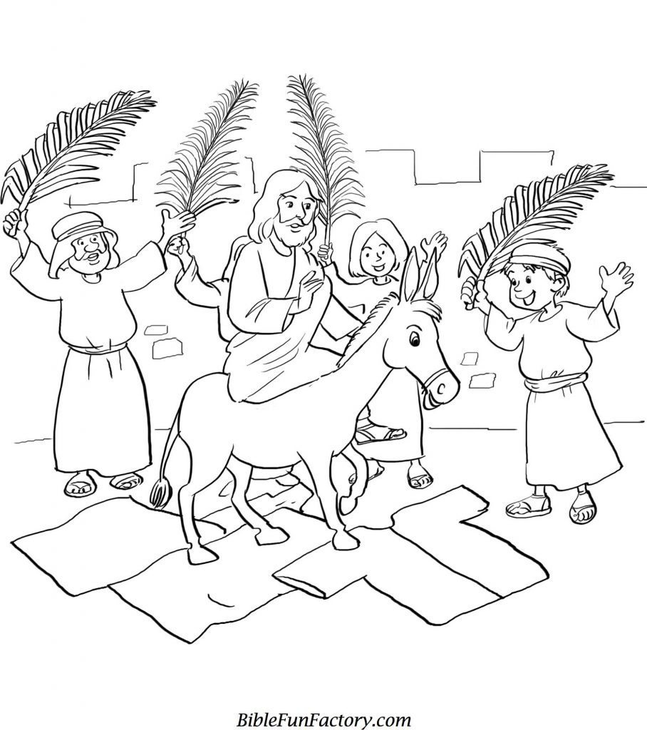 Palm Sunday Bible Coloring Pages