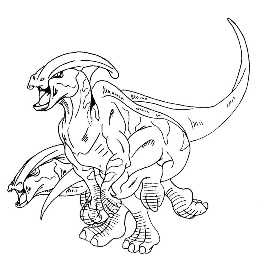 Parasaurolophus Dinosaur Coloring Page