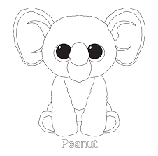 Peanut - Beanie Boo Coloring Pages