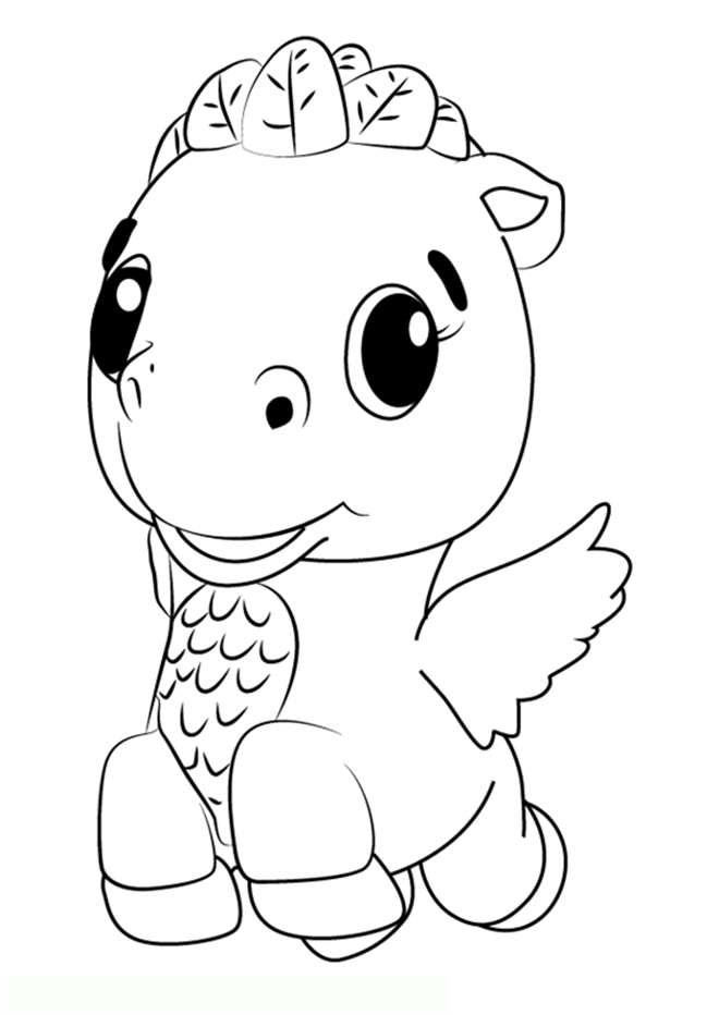 Pegasus Hatchimals Coloring Pages