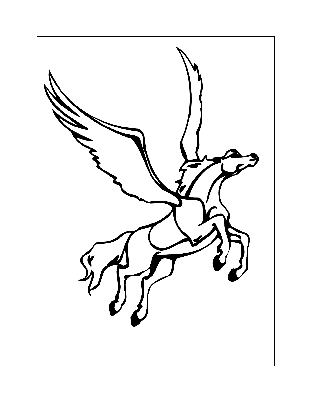 Pegasus In Flight Coloring Page