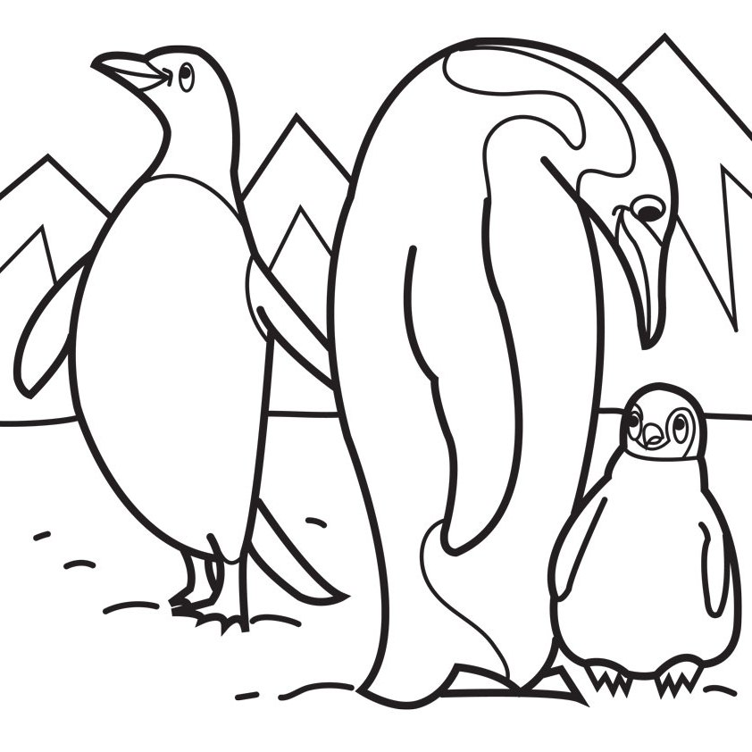 Penguin Coloring Pages Coloring Rocks
