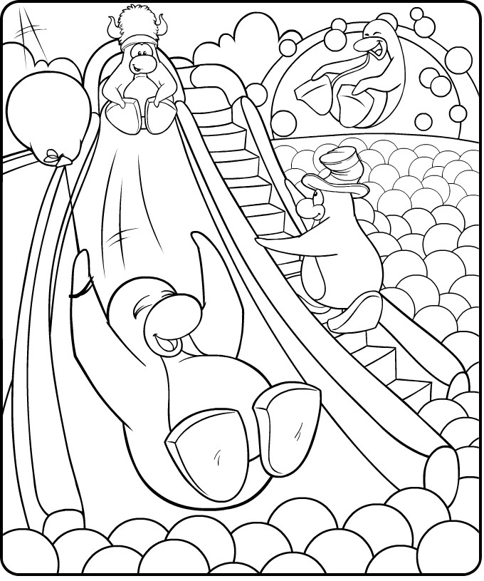 Penguin Fun Coloring Pages