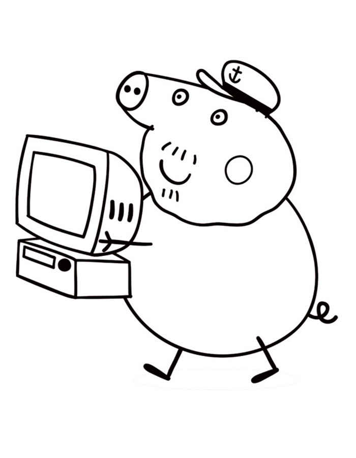 Peppa Pig Computer Coloring Pages