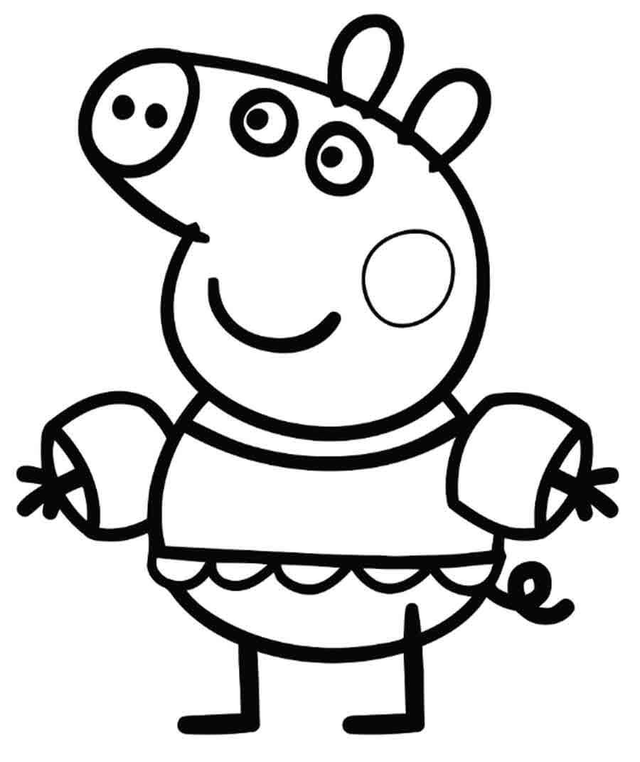 Peppa Pig Images for Coloring