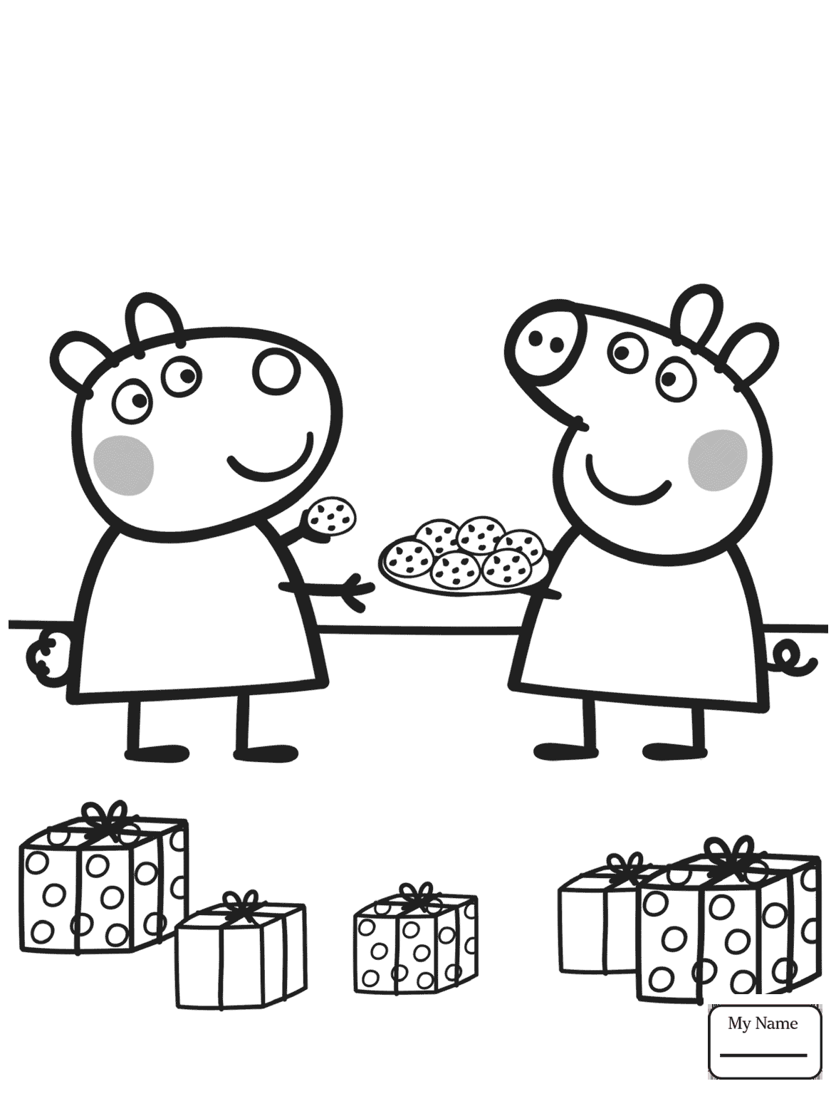 Peppa Pig Party Coloring Pages