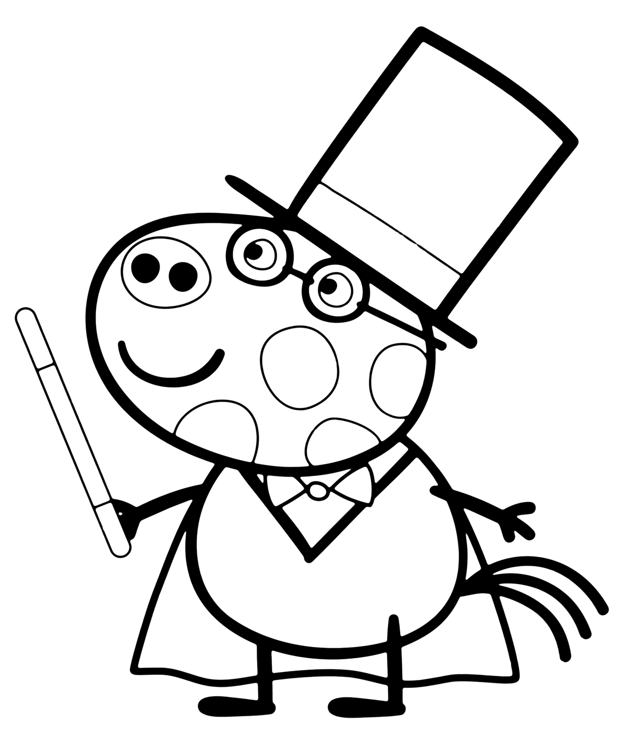 Peppa Pig Pedro Coloring Pages