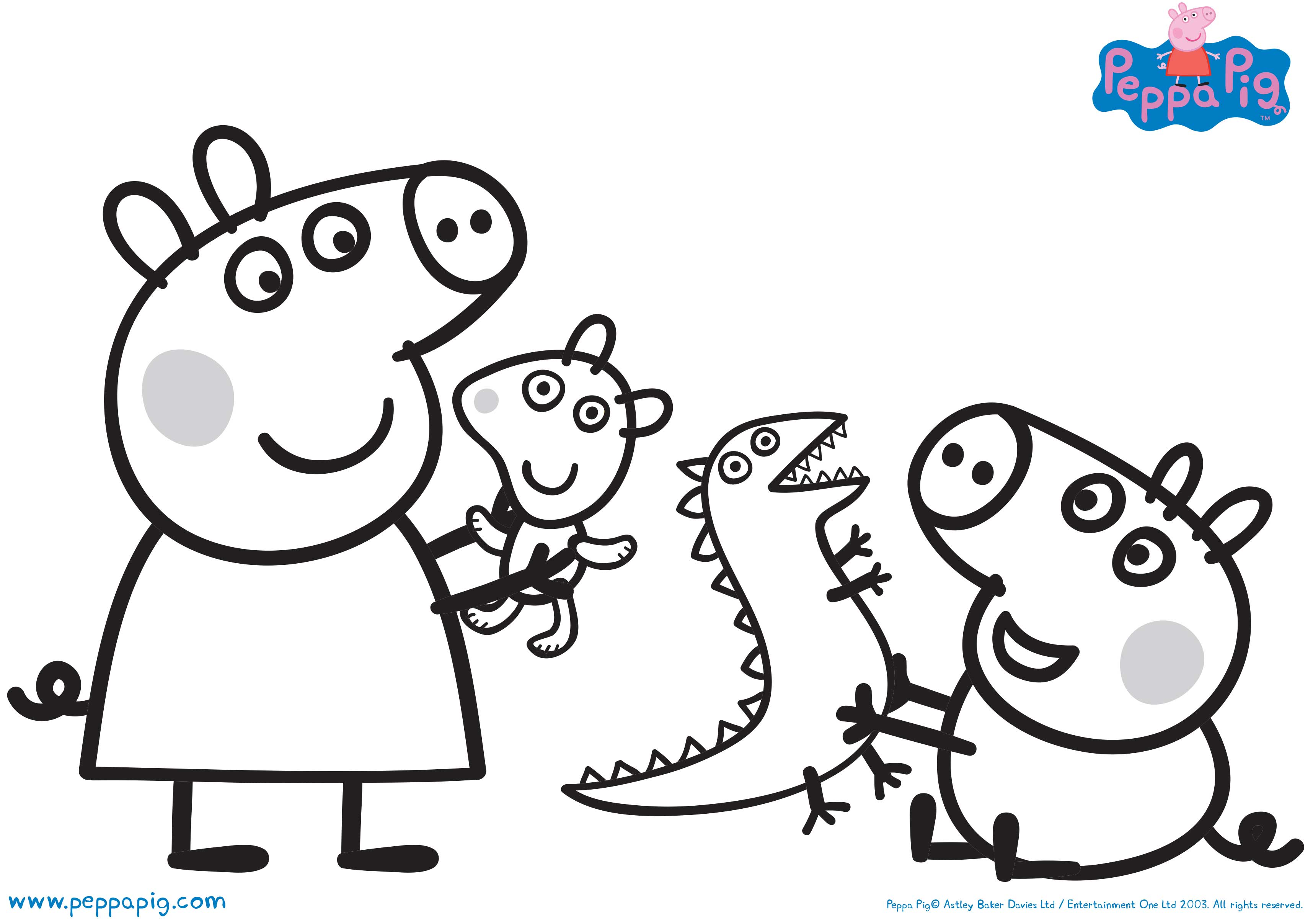 Peppa Pig Playtime Coloring Pages