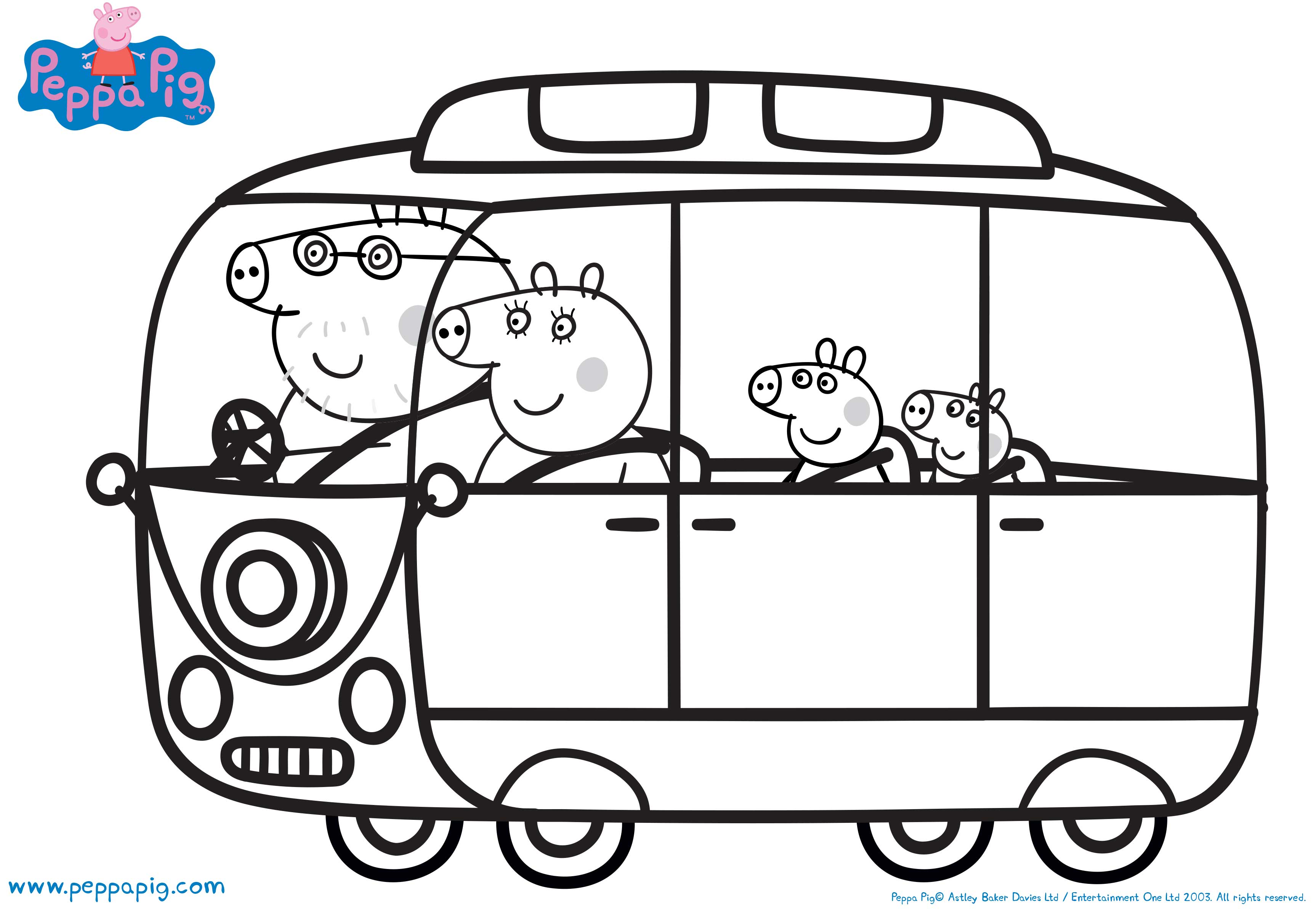 Peppa Pig Printable Coloring Pictures