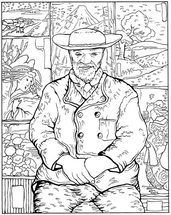 Pere Tanguy Van Gogh Coloring Pages