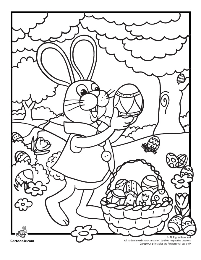 Peter Rabbit Cartoon Coloring Pages