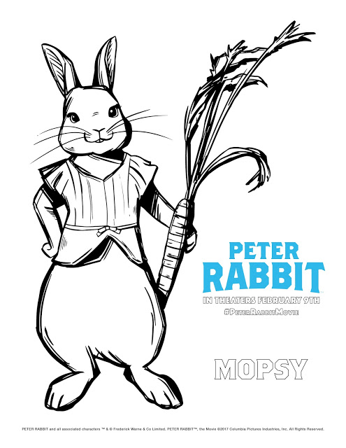 Peter Rabbit Movie Mopsy Coloring Page