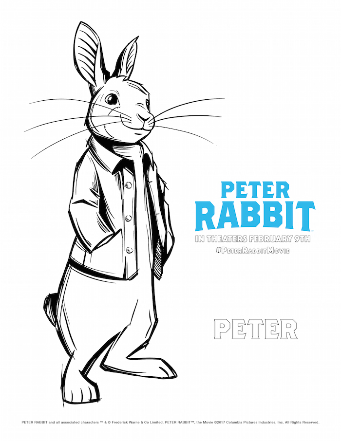 Peter Rabbit Movie Poster to Color
