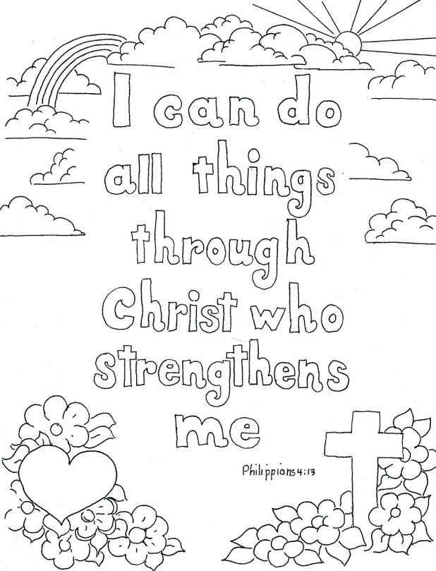 Philippians Bible Coloring Pages