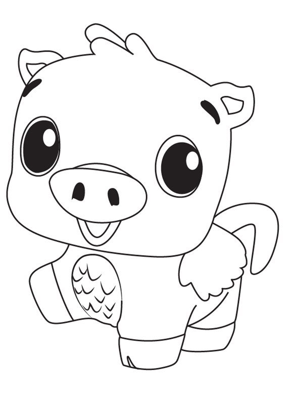 Pig Hatchimals Coloring Pages