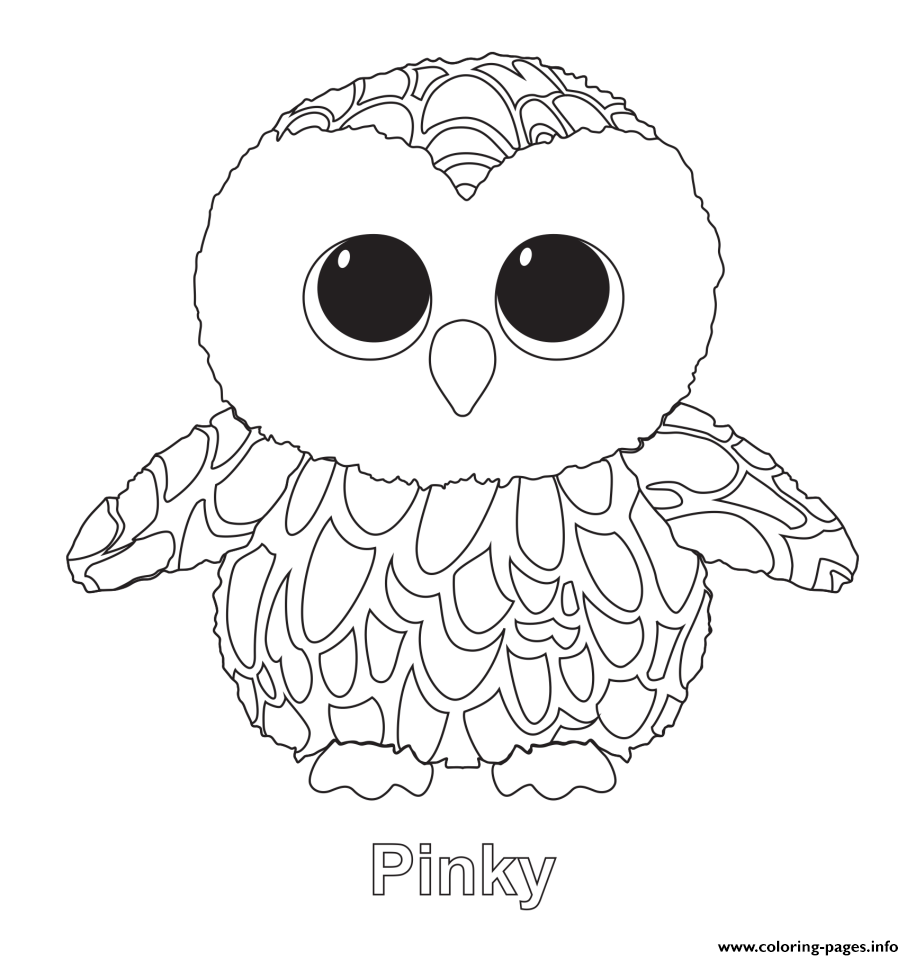Pinky - Beanie Boo Coloring Pages