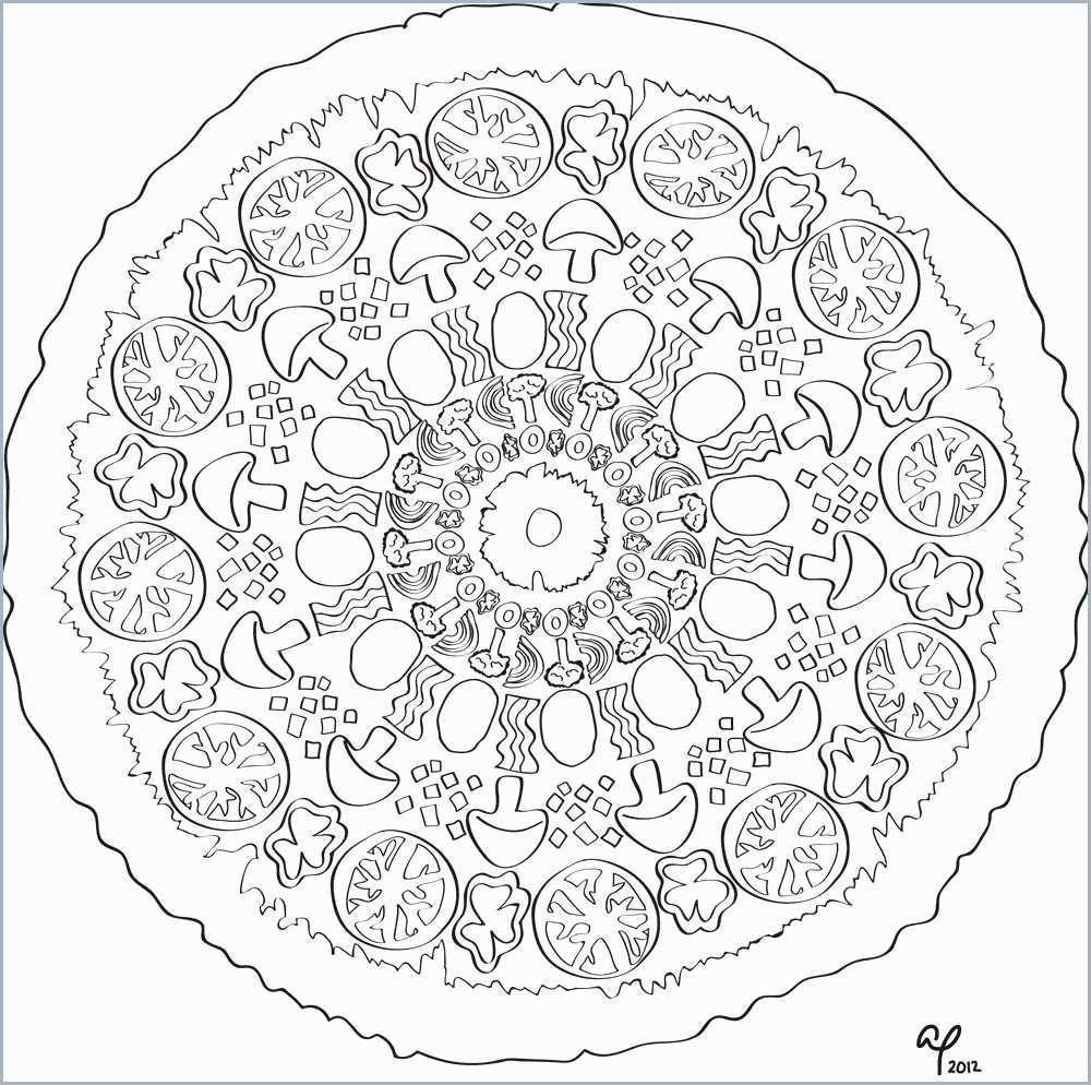 Pizza Printable Coloring Page