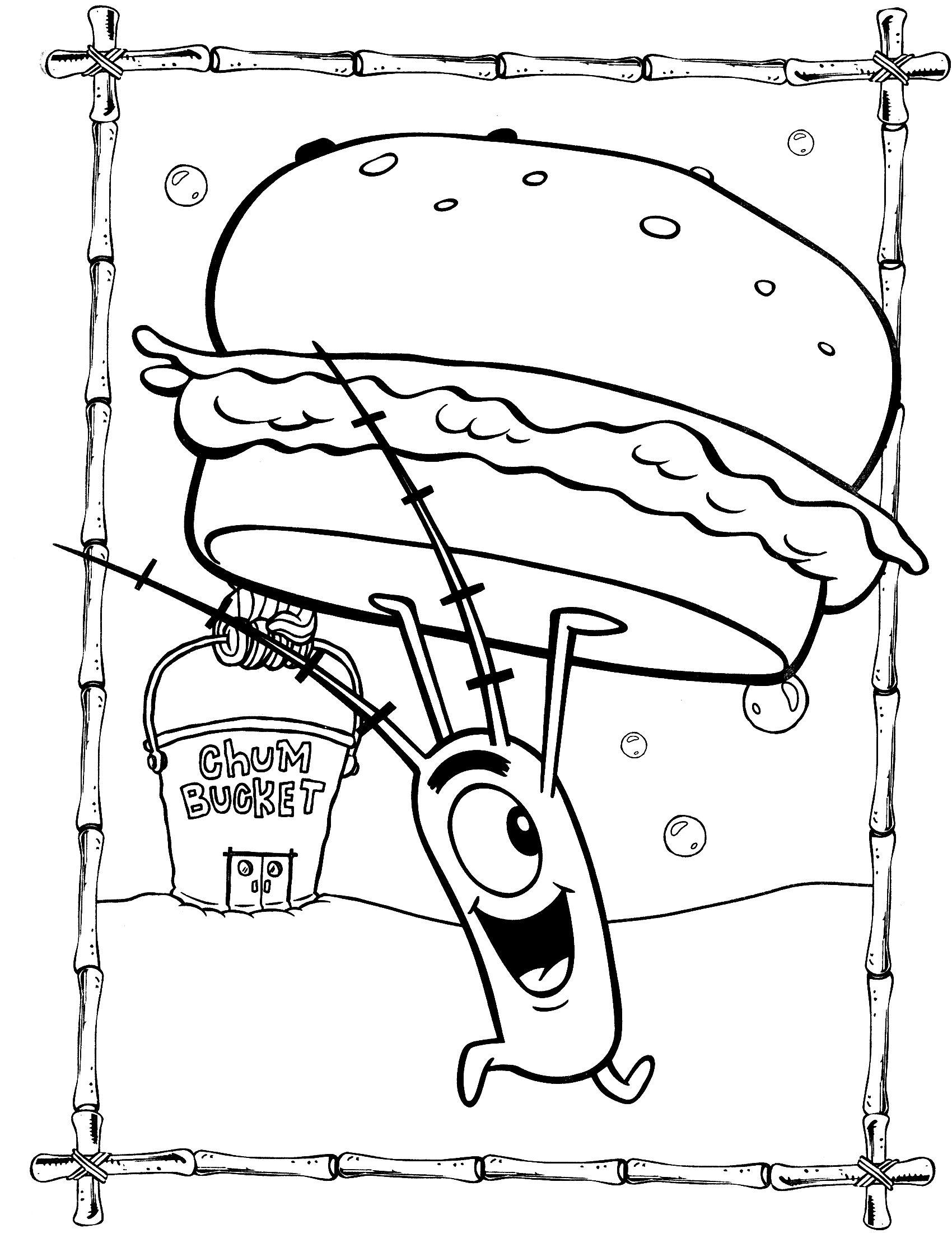 Plankton Secret Formula Spongebob Coloring Pages