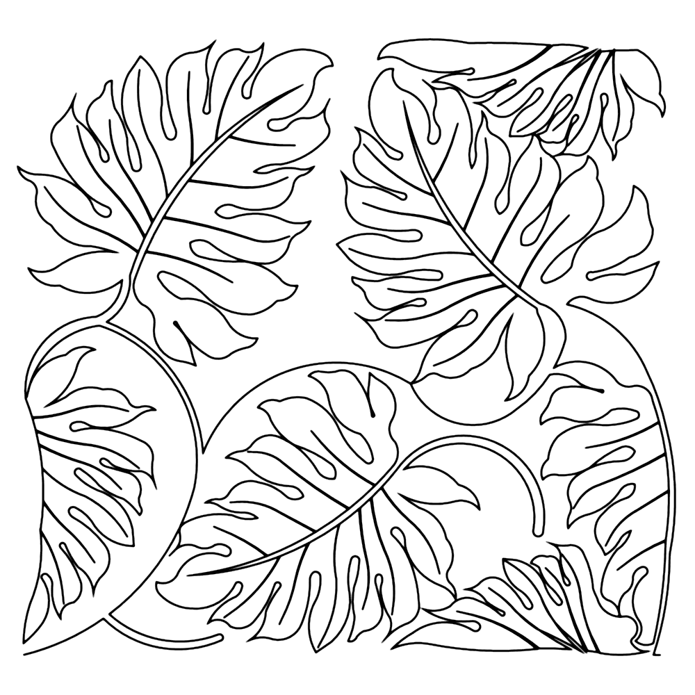 Plant Leaves Coloring Pages Coloring Rocks