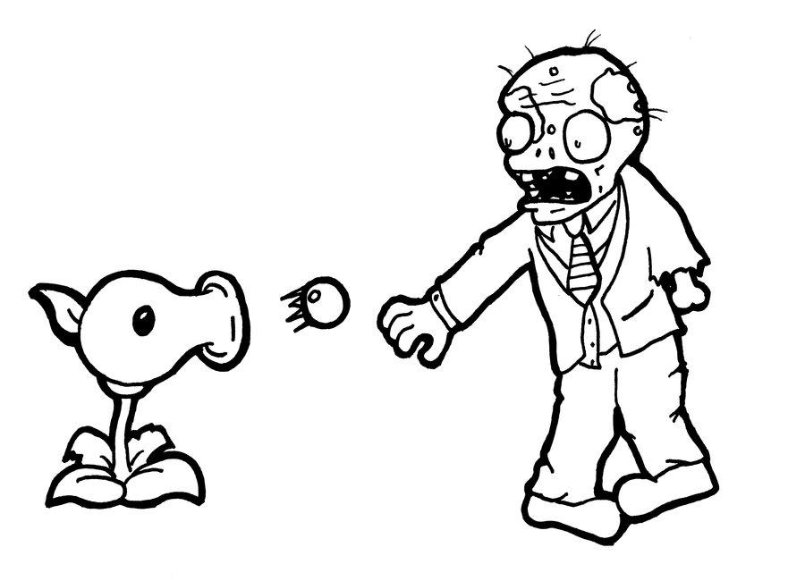 Plants vs Zombies Battle Coloring Pages