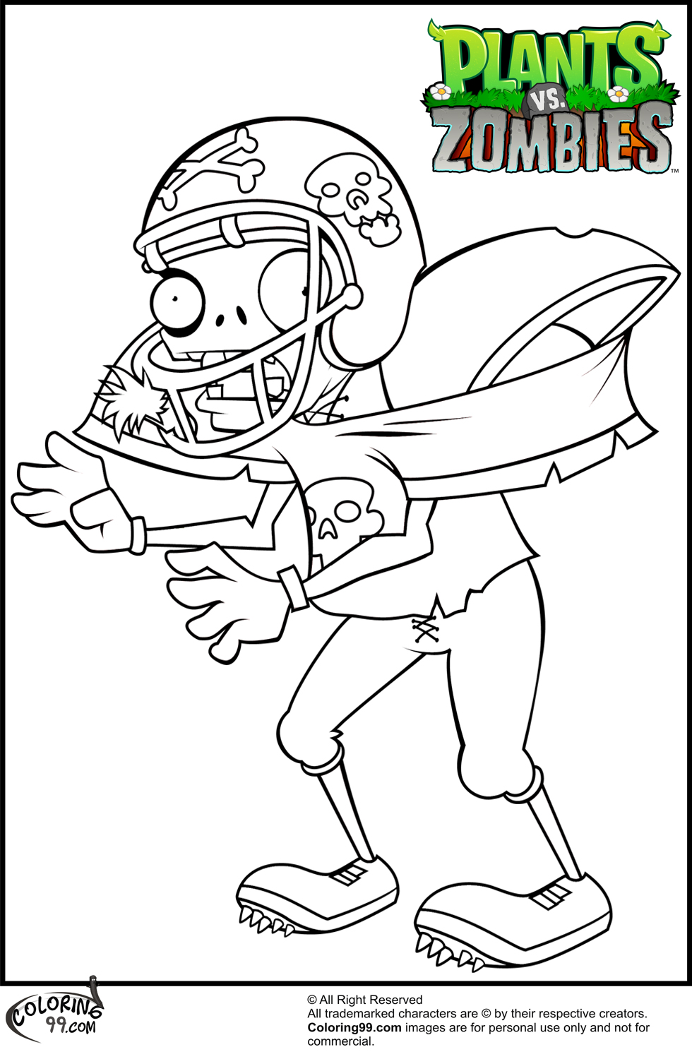 Plants vs Zombies Coloring Pages | coloring.rocks!