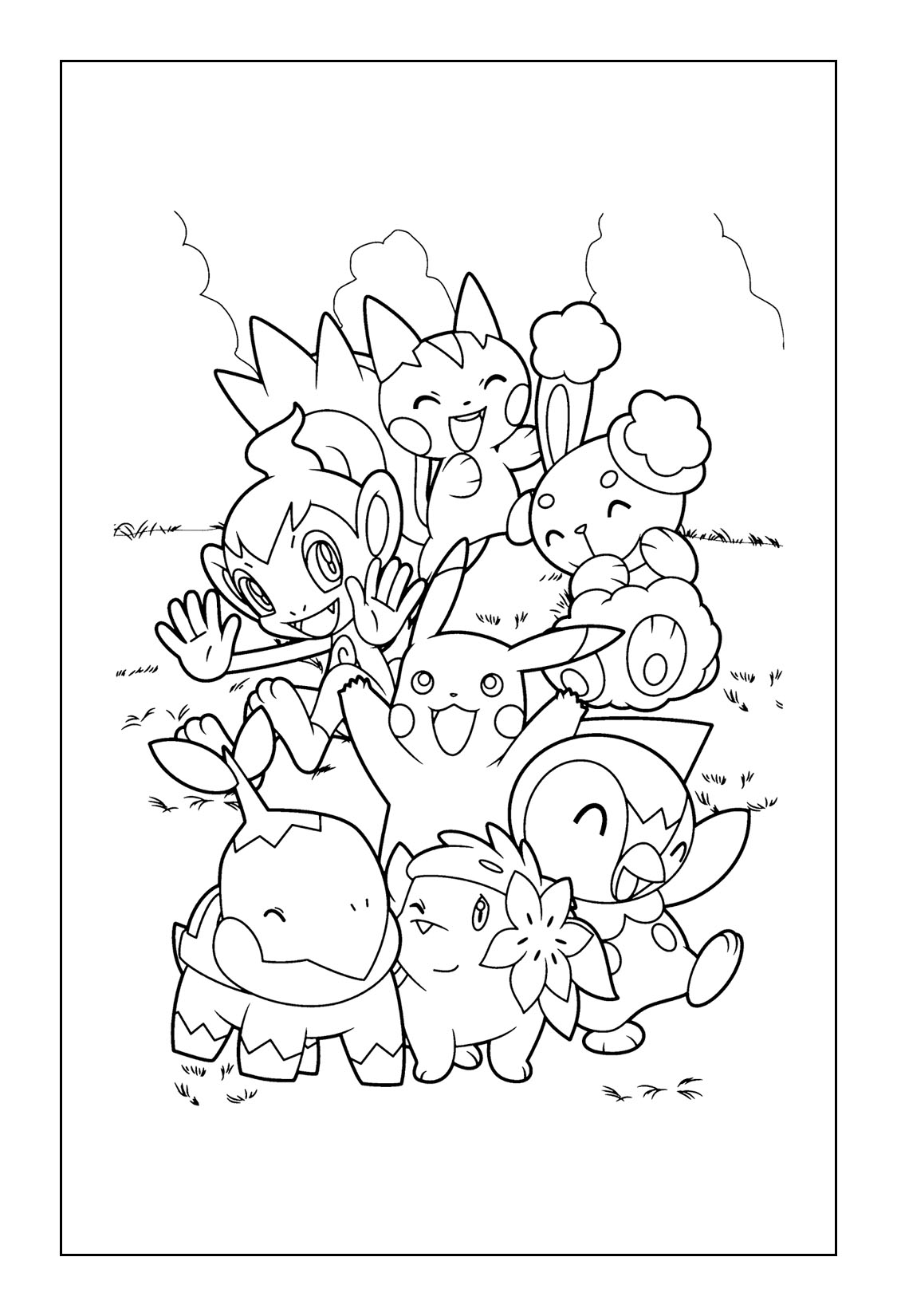 Pokemon and Pikachu Coloring Pages