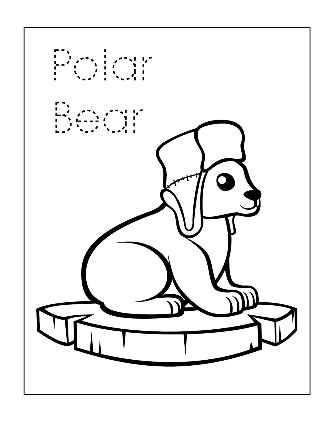 Polar Bear Printable Sheet